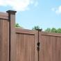 V300-6 T&G PVC Privacy Fence in Walnut (W103)