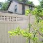 V3215SQ-6 T&G PVC Privacy Fence with Square Lattice in Eastern White Cedar (W105)