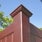 V300 Tongue & Groove Vinyl Woodbond PVC Fence in Cherry (W102)