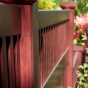 V5701-5 Semi Privacy Vinyl WoodBond fence in Mahogany (W101)