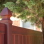 V300 Tongue & Groove Vinyl Woodbond PVC Fence in Mahogany (W101)