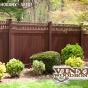 V3700-6 Grand Illusions Vinyl WoodBond Mahogany (W101) Privacy Fence