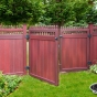 V3700-6 Grand Illusions Vinyl WoodBond Mahogany (W101) Privacy Fence