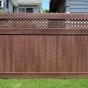 PVC Privacy Fence with Small Diagonal Lattice in Walnut (W103)