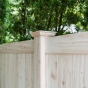 V300-6 T&G PVC Privacy Fence in Eastern White Cedar (W105)