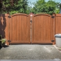rosewood PVC vinyl double drive gates from illusions fence