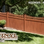 V3707-6 Grand Illusions Vinyl WoodBond Rosewood (W104) T&G Vinyl Privacy