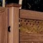 V3215DS-6 Walnut (W103) T&G Vinyl Privacy Fence