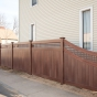 V3215SQ-6 T&G Vinyl Fence with Square Lattice