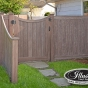 V300-5 T&G PVC Privacy Fence in Walnut (103)