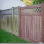 walnut-wood-grain-pvc-vinyl-fence-vs-wood-fence
