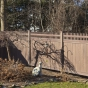Privacy Fence with Straight Victorian Top in Walnut (W103)
