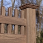 V3700-6 - Grand Illusions Vinyl WoodBond Walnut (W103) Privacy Fence