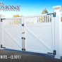 V3700 Series Framed Victorian Drive Gate with Majestic Posts and Extra Strong Hinges