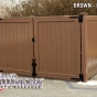 V300-6 Tongue & Groove Outdoor Enclosure in Brown (L106)