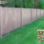 V300-6 T&G 6\' Privacy Fence in Walnut (W103)
