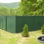 V300-6 6\' T&G PVC in Forest Green (E120)