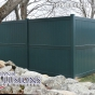 V300-8 Tongue & Groove Privacy PVC Fence in Hunter Green (E117)