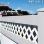 V3215D-6 T&G Fence with Diagonal Lattice at McDonald\'s