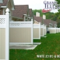 V3215DS-6 Privacy Panels with Small Diagonal Lattice in White (C101) and Beige (C102)