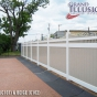 V3707-6 T&G Privacy Fence with Scalloped Victorian Topper in White (C101) and (C102)