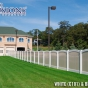 VBF300-6 T&G Arched Vinyl Privacy fence at Fire Station