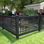 VSQL48-4 4\' Vinyl Semi-Privacy Fence