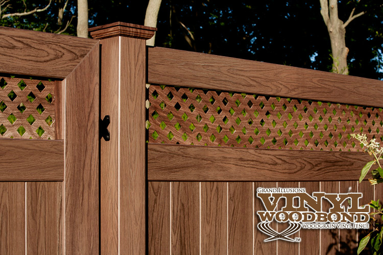 V3700 6 Tongue Groove Pvc Privacy Fence In Walnut