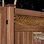 V3700-6 Tongue & Groove PVC Privacy Fence in Walnut
