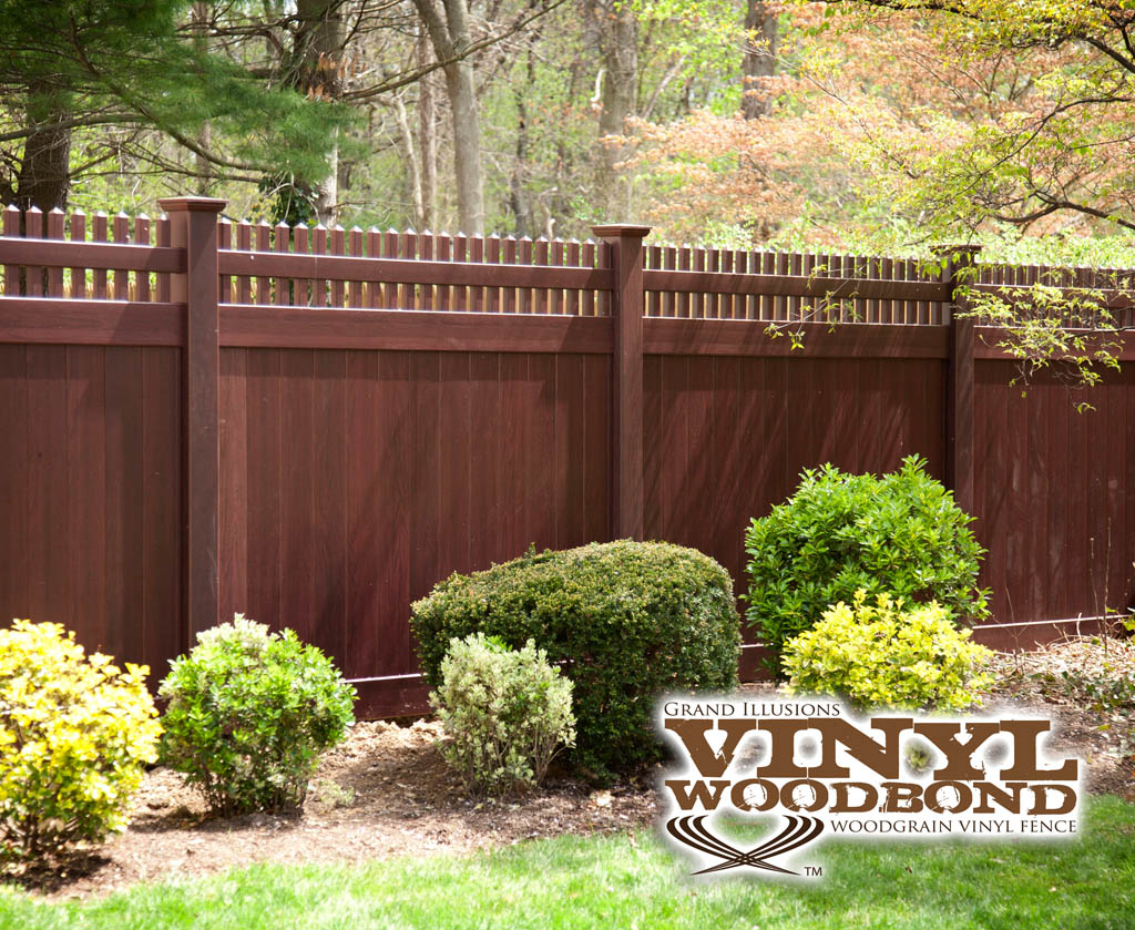 Worlds first mahogany fence installed in cold spring harbor ny grand illusions vinyl woodbond mahogany fence baanklon Image collections