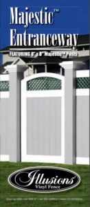 Amazing PVC vinyl fence gates with 8x8 majestic posts are perfect for any entranceway.