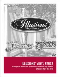 Illusions PVC Vinyl Fence Comprehensive Product Catalog Featuring Tons of Styles of the Best Fence Brand In the Industry