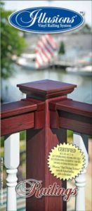 Illusions PVC vinyl railing tri-fold Brochure Featuring 35 Colors and 5 Woodgrains of Illusions Vinyl Railing to Choose From