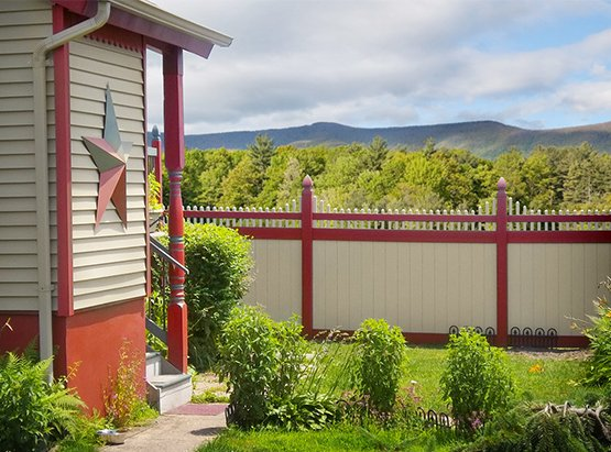 illusions pvc vinyl fence home page image of color and wood grain pvc vinyl fence products