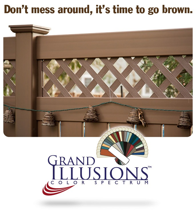 Brown Vinyl Fence
