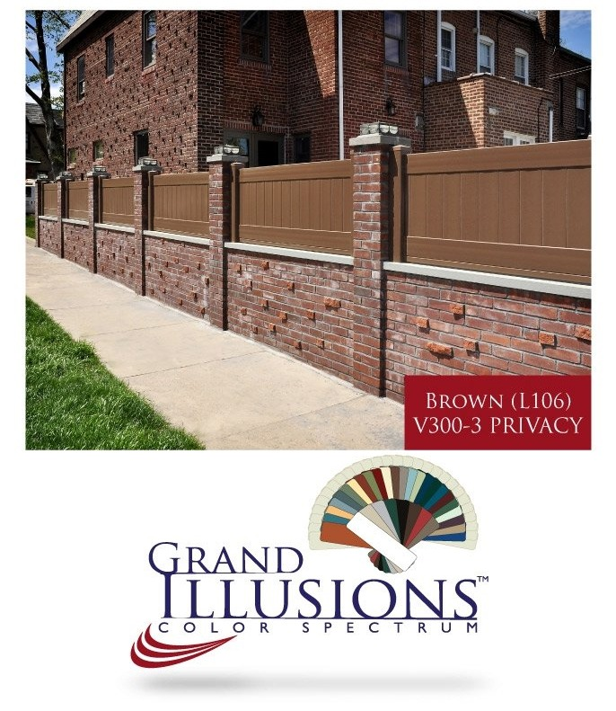 Brown Vinyl Privacy Fence where can i get brown vinyl privacy fence? - illusions vinyl fence