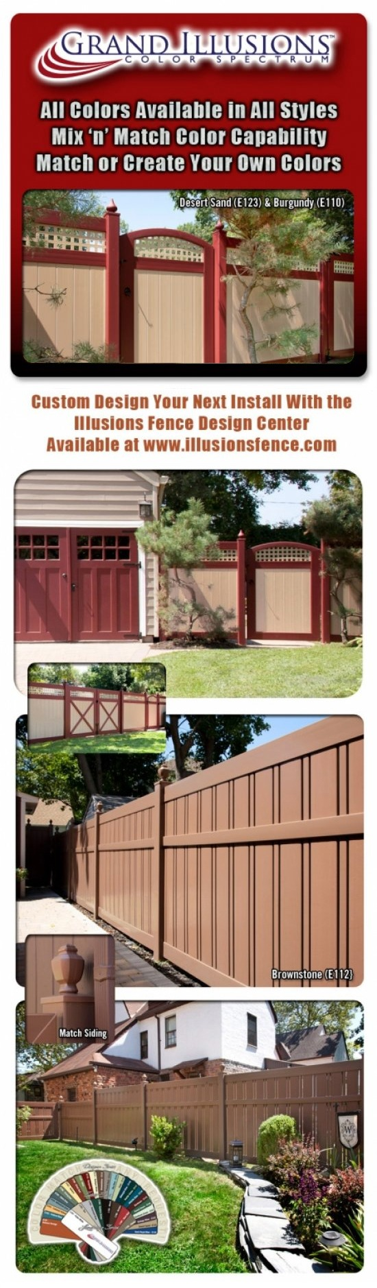 Mix and Match with Grand Illusions PVC Fence