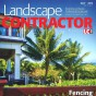 Grand Illusions Vinyl Woodbond Mahogany (W101) featured on the cover of Landscape Contractor