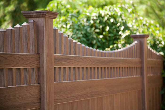 Where Can I Get Walnut Wood Pvc Fence Illusions Vinyl Fence