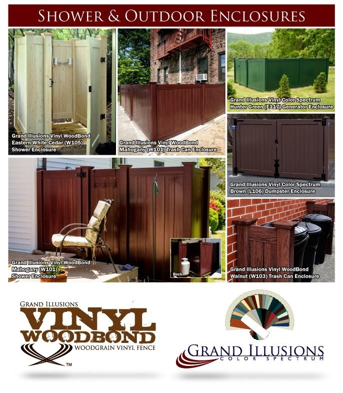 Vinyl Fence Shower and Outdoor Enclosures