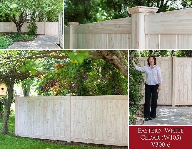 No maintenance wood fence. Grand Illusions Eastern White Cedar