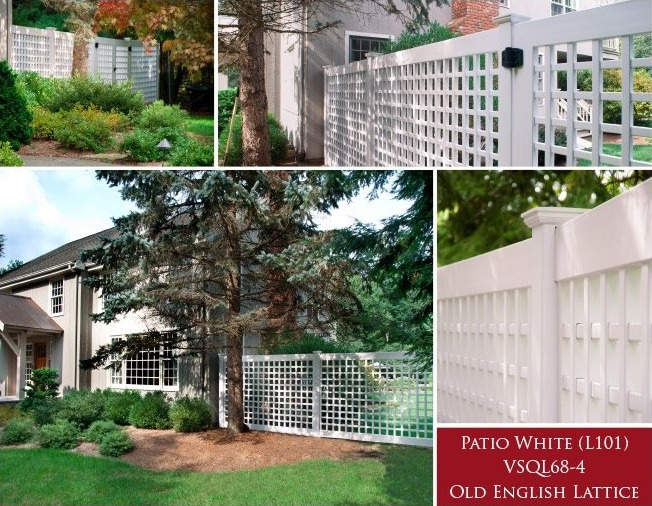 Grand Illusions Color Spectrum Patio White Vinyl Fence
