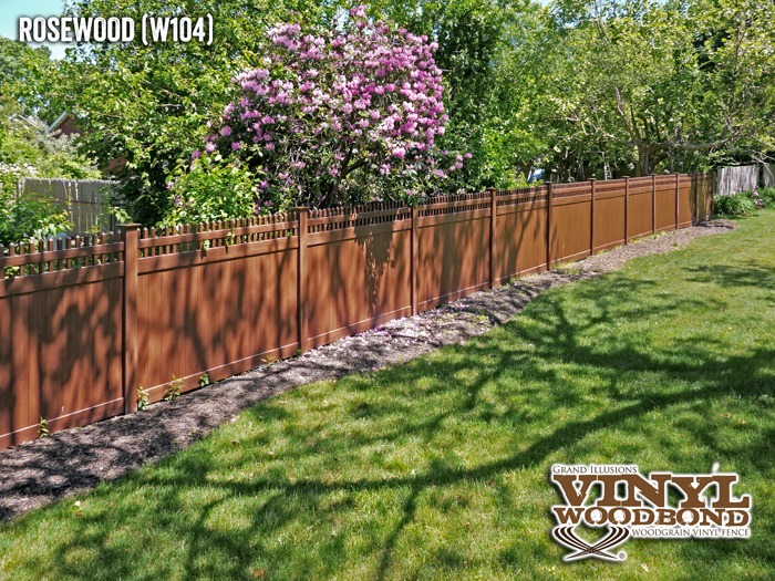 color wood grain pvc fence_1