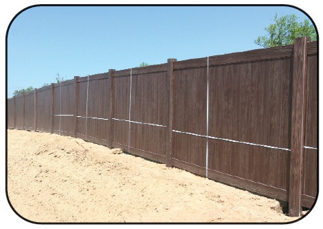Grand Illusions Walnut Vinyl Fence 10