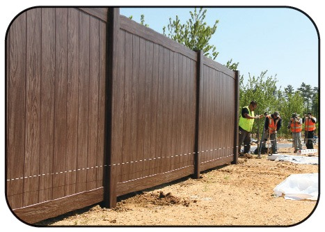 Grand Illusions Walnut Vinyl Fence 11