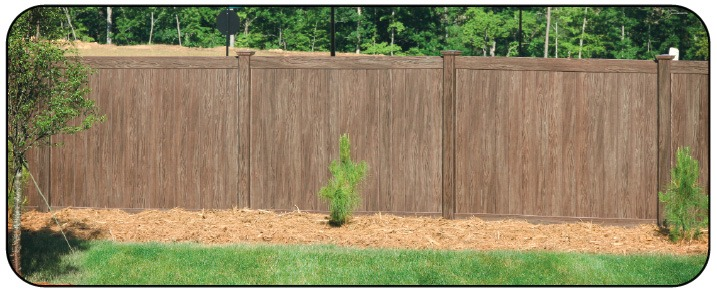 Grand Illusions Walnut Vinyl Fence 5