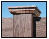 Grand Illusions Walnut Vinyl Fence 6