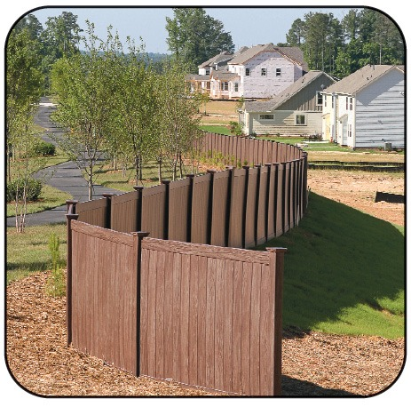 Grand Illusions Walnut Vinyl Fence 8