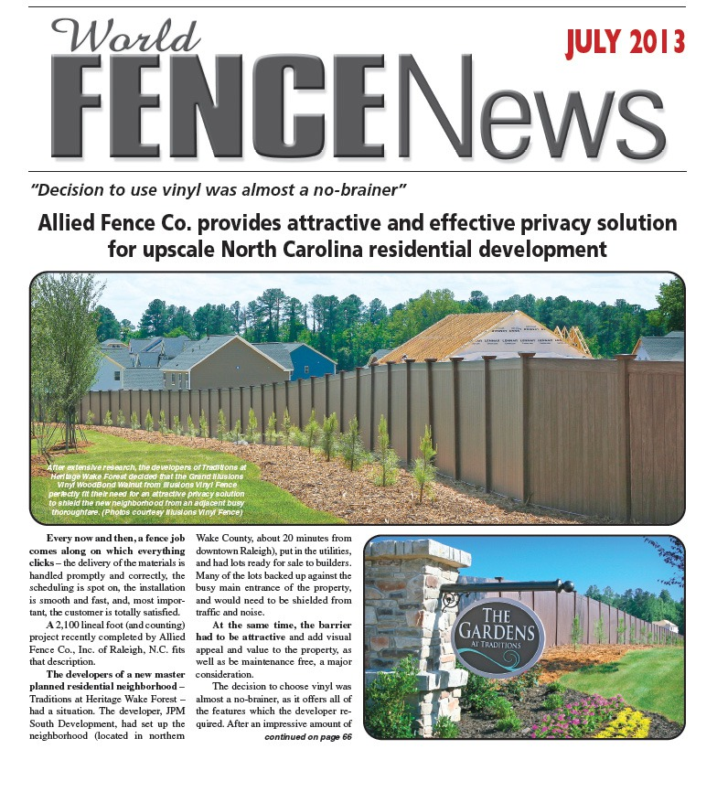 World Fence News Cover