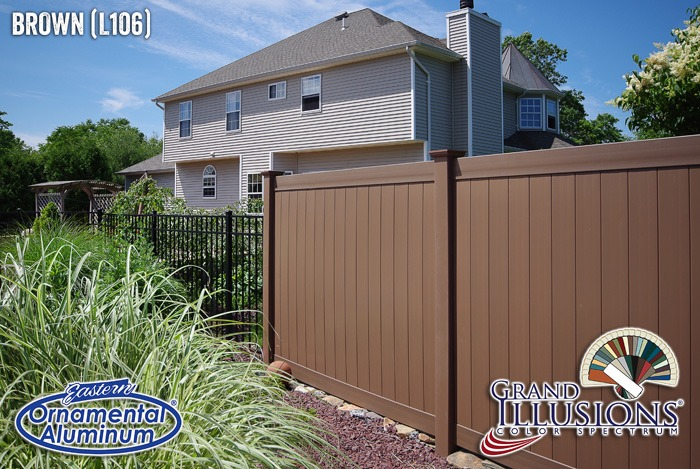 brown vinyl fence panels
